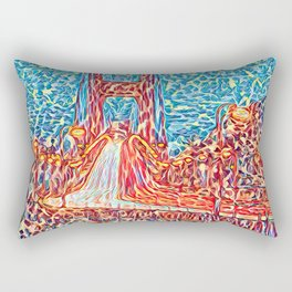Car Light Trails on the Golden Gate Bridge Rectangular Pillow