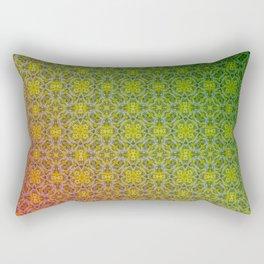 red green Ombre Rectangular Pillow