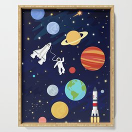 In space Serving Tray