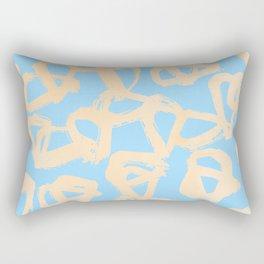 Sweet Life Triangle Dots Orange Sherbet + Blue Raspberry Rectangular Pillow