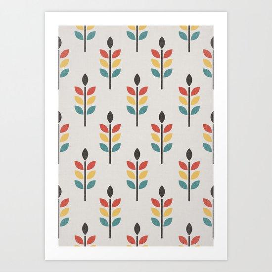 Leaf Pattern Art Print