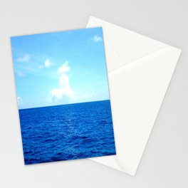 Serene Blue Water Stationery Cards