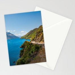 Scenic winding road at Lake Wakatipu, New Zealand Stationery Cards