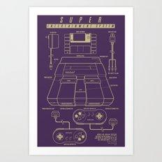 Super Entertainment System (dark) Art Print