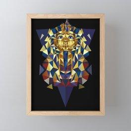 Golden Tutankhamun - Pharaoh's Mask Framed Mini Art Print