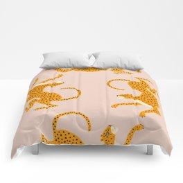 Leopard Race - pink Comforters