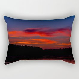 Sunset At The Lake Rectangular Pillow