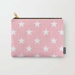 Stars (White/Pink) Carry-All Pouch
