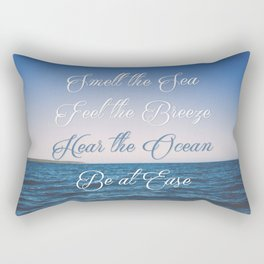 Hear the Ocean, Be at Ease Rectangular Pillow