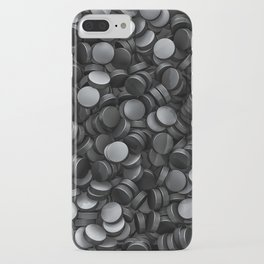 Hockey pucks iPhone Case