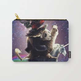 Cat Riding Chicken Turtle Panda Llama Unicorn Carry-All Pouch