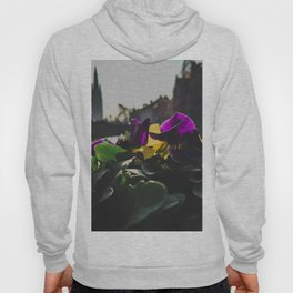 Bruges yellow and purple flowers Hoody