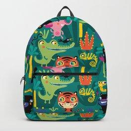 Jungle Animals Kids Animal Safari Pattern Backpack