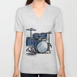 percussion music Unisex V-Neck