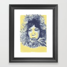 Just before the war with the eskimos Framed Art Print