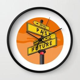 Past 2018 and Future 2019 Signpost Retro Wall Clock