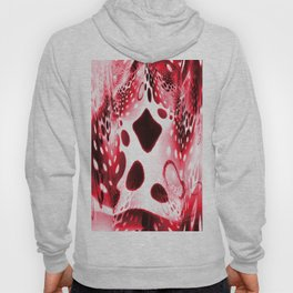 Red Circles, Drops and Drips Hoody