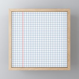 Dotted Grid Red and Blue Framed Mini Art Print