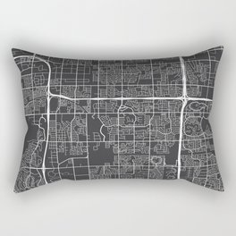 Tempe Map, USA - Gray Rectangular Pillow