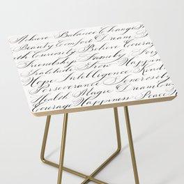 Inspirational Words II Side Table