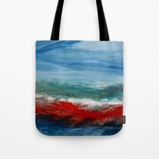 By the Angry Seashore Tote Bag