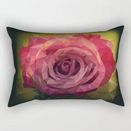 Rose Polygon Art Rectangular Pillow