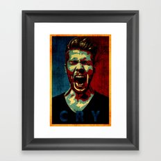 cry poster  Framed Art Print