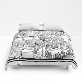 Borzoi puppies Comforters