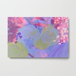 Kawaii Pretty Springtime Sparkle Metal Print