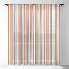 Combined Stripe Pattern - Clear Sailing Colorway Sheer Curtain