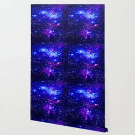 Fox Fur Nebula Galaxy blue purple Wallpaper