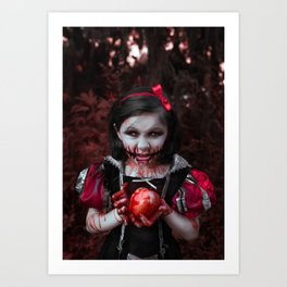 Zombie Snow White Art Print