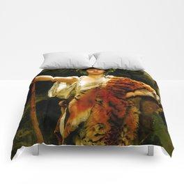 "John Collier ""The Priestess of Bacchus"" Comforters"