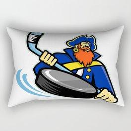 Swashbuckler Ice Hockey Sports Mascot Rectangular Pillow