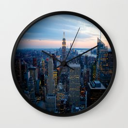 New York City Dusk Wall Clock