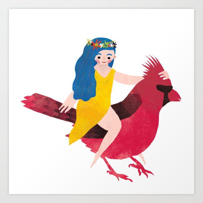 Cardinal Magic Art Print