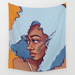 Blue Haired Bombshell Wall Tapestry