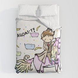 Allons-y Unicorns Comforters
