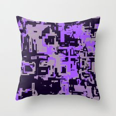 Purple Shades of perplexity Throw Pillow