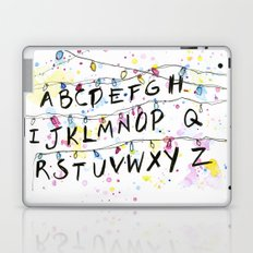 Stranger Things Alphabet Wall Christmas Lights Typography Laptop & iPad Skin
