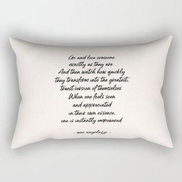 Love Someone Rectangular Pillow