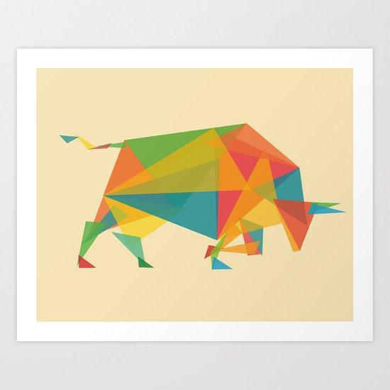 Fractal Geometric Bull Art Print