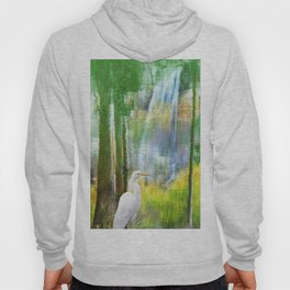 Egret in Dreamland - A Hoody