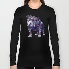 English Bulldog (Color Version) Long Sleeve T-shirt