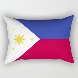 Philippines flag emblem Rectangular Pillow