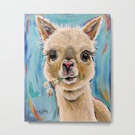 Aplaca Art, 'Holly' Alpaca prints Metal Print