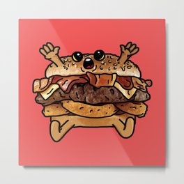 Western Bacon Cheeseburger Metal Print