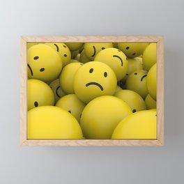 sad balls Framed Mini Art Print