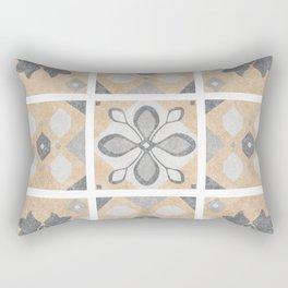 Terracotta Vintage Tiles Design Rectangular Pillow