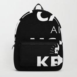 Keep Calm & Motorhome Camper Funny Gift Backpack